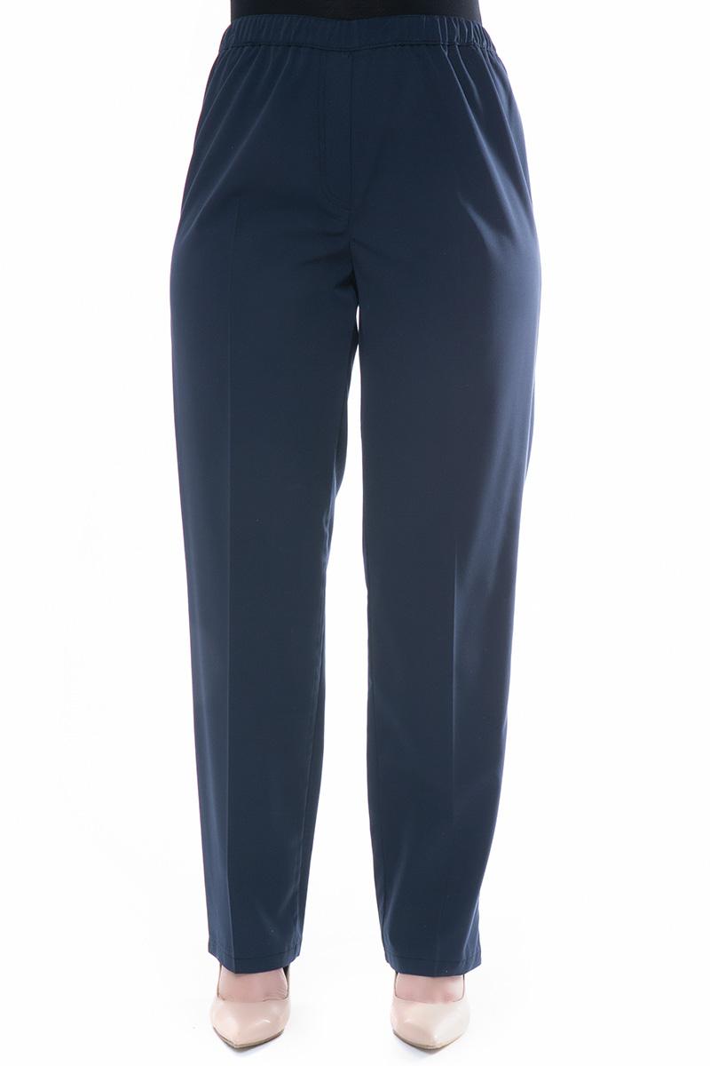 Μπλε κρεπ παντελόνι με λάστιχο στη μέση νέες αφίξεις   ενδύματα   παντελόνια   κολάν