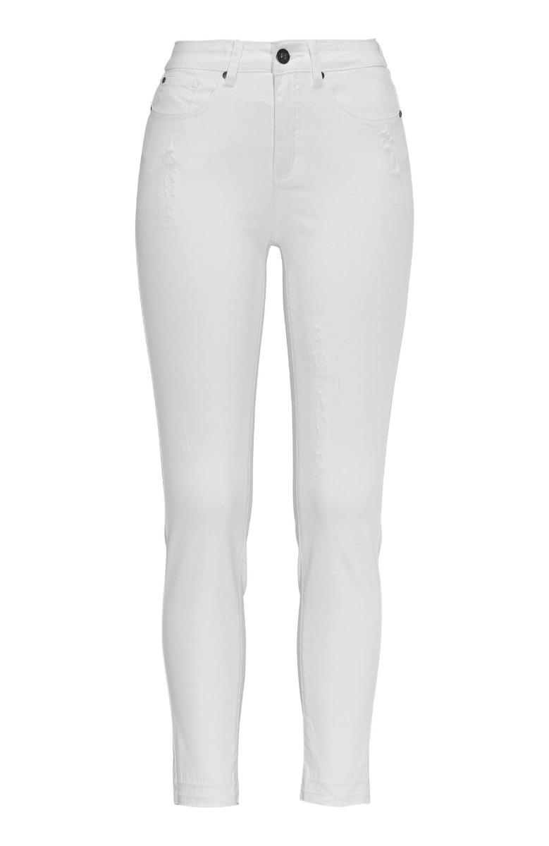 c52ea1d5149d Παντελόνι jean Χρώμα denim white Διαθέτει φθορές Τελείωμα με ξέφτια  Ελαστικό ύφασμα Μήκος 7/8