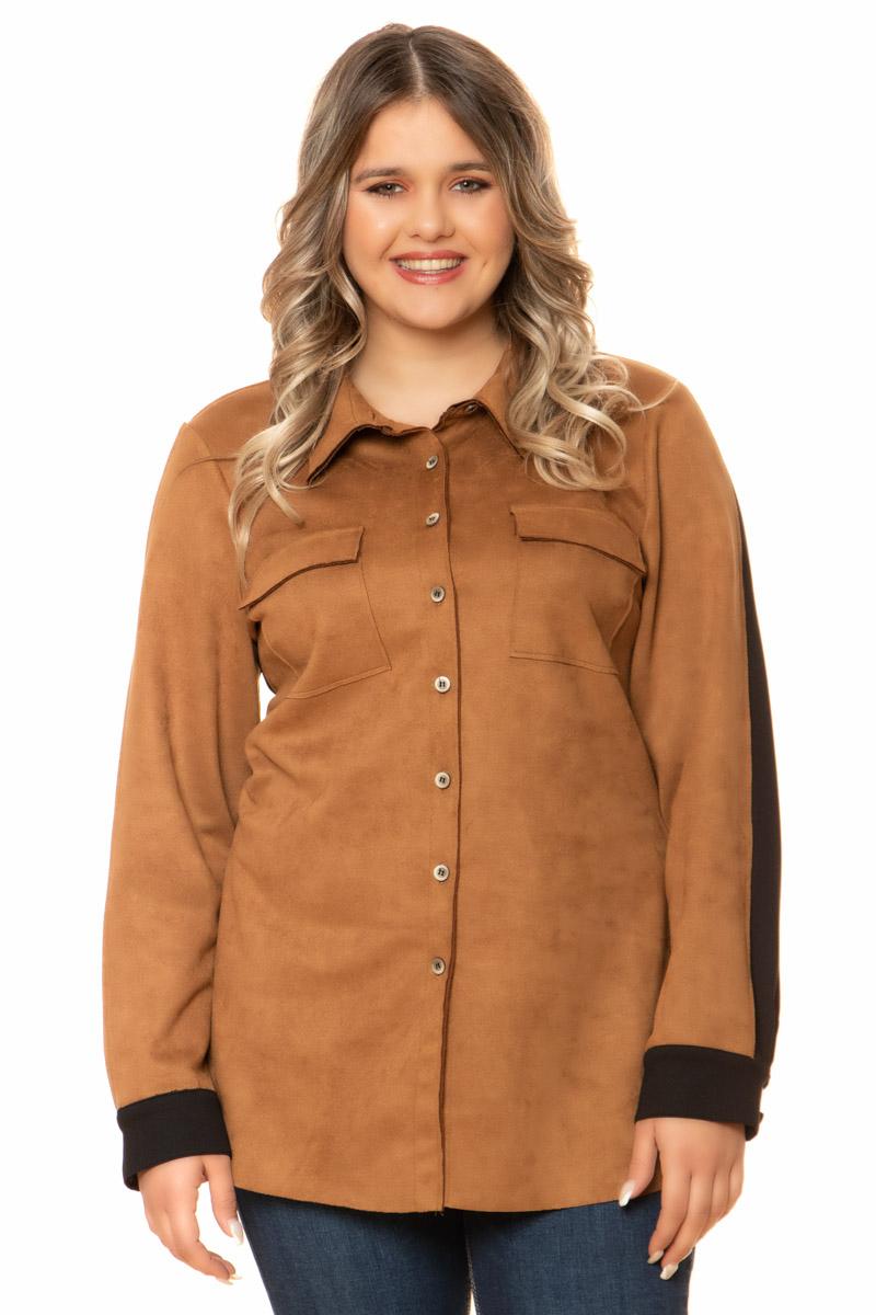 Πουκάμισο Ταμπάχρώμα Τσέπες στο στήθος Διαθέτει γιακά Μανίκια με κουμπάκια στο τελείωμα Κλείνει με κουμπιά Ελαστικό ύφασμα Η γραμμή είναι ίσια Σύνθεση:94%POL 6%ELAS Η γραμμή είναι κανονική - Επιλέξτε το κανονικό σας νούμερο. Ιδανικό για stylish winter looks. Διαθέσιμα μεγέθη από S έως XXL. Το μοντέλο έχει ύψος 1.75cm και φοράει μέγεθος S.