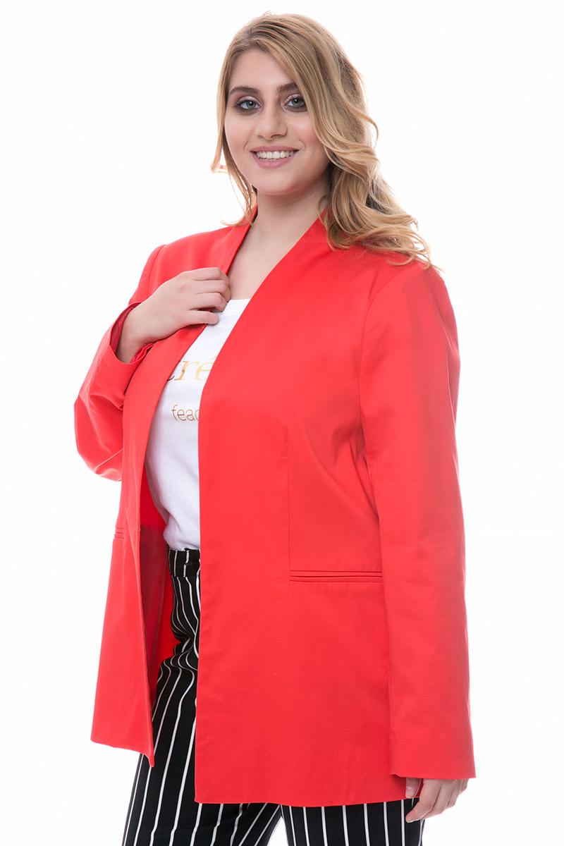 Σακάκι blazer Κόκκινοχρώμα Τσέπες Χωρίς γιακά και κούμπωμα Ίσια γραμμή Το ύφασμά του είναι σταθερό Η γραμμή είναι κανονική - επιλέξτε το κανονικό σας νούμερο. Ένα must have κομμάτι για office looks και όχι μόνο. Διαθέσιμα μεγέθη από Μ έως XL. Το μοντέλο έχει ύψος 1.75cm και φοράει μέγεθος M.