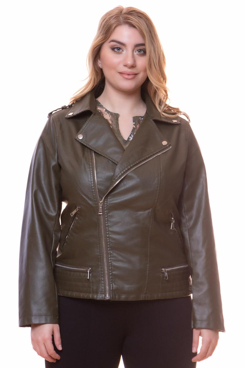 Leather-like jacket Χακί χρώμα Μακριά μανίκια Με ανοιχτή λαιμόκοψη Κλείσιμο με φερμουάρ Τσέπες με φερμουάρ Εσωτερική φόδρα Ίσια γραμμή Σταθερό ύφασμα Σύνθεση: 100%POL Η γραμμή είναι κανονική - Συμβουλευτείτε το μεγεθολόγιο. Κατάλληλο για όλες τις ώρες και περιστάσεις. Διαθέσιμα μεγέθη από S έως XXL. Το μοντέλο έχει ύψος 1.75cm και φοράει μέγεθος S.