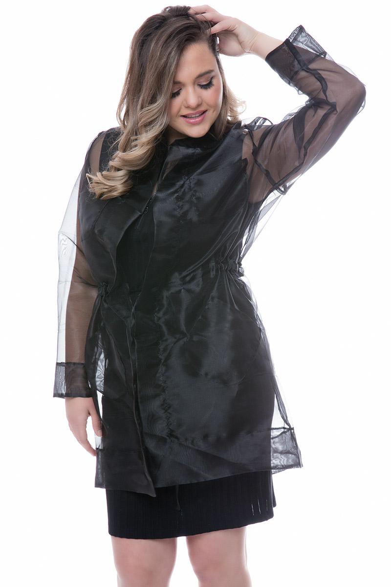Διάφανη ζακέτα Μαύρο χρώμα Μακριά μανίκια Με δέσιμο στην μέση Σύνθεση: 100% POL Η γραμμή είναι κανονική - επιλέξτε το κανονικό σας μέγεθος.Ιδανικό outfit από το πρωί μέχρι το βράδυ.Διαθέσιμα μεγέθη από ΧS έως XL.Το μοντέλο έχει ύψος 1.75cm και φοράει μέγεθος S.